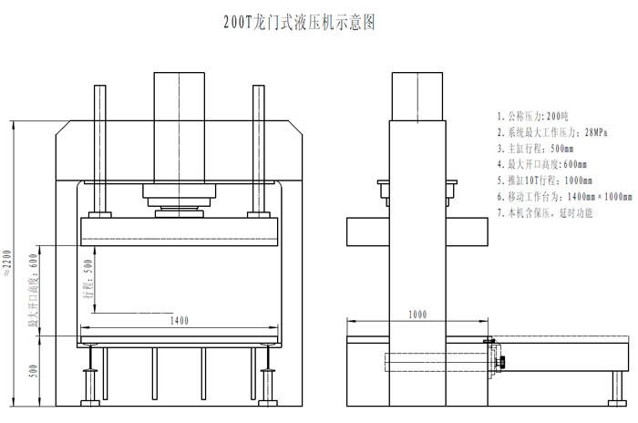 四柱油压机,单臂液压机