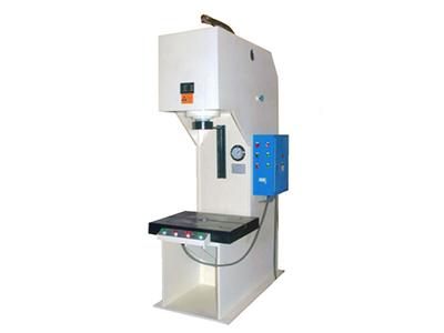 单柱液压机出现油压跟不上是什么原因导致的?